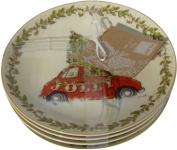 222 Fifth Tis the Season Dessert/Appetiser Plates - Set of 4 - Approximately 17cm