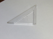 Mini Clear Plastic Triangle Dessert Appetiser Plates. Pack Includes 48 Tasting Sampling Hors D'oeuvres Disposable Dishes.