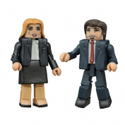 Diamond Select Toys Minimates X-Files 2 Pack 5.1cm Action Figures - Fox Mulder and Dana Scully