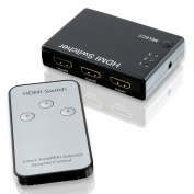 CSL - Full HD 3 Port HDMI Switch / distributor | Automatic switch / 3 Port | 3D Ready / 1080p | incl remote control