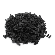 700 Pcs Black Plastic Cable Clamp Wire Tie Mount Screw Fixed Base 1mm
