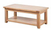 Devon Solid Oak Large Coffee Table / Natural Oak Lacquer Living Room Table / Living Room Furniture