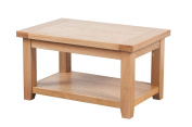 Devon Solid Oak Coffee Table / Natural Oak Lacquer Living Room Table / Living Room Furniture