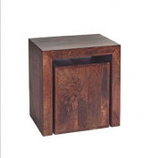 Texas Dark Mango Wild Style Solid Hardwood Cubed Nest of 2 Tables