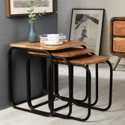 Alaska Retro Rustic Pipe Frame Design 3 Nested Tables