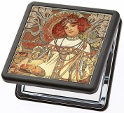 Compact Mirror Autumn by Alphonse Mucha from Artis Vivendi
