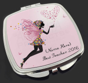 Personalised 'Best Teacher 610m Make-Up Compact Mirror Stocking Filler Gift