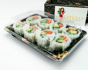 Katgely # 8 Sushi Trays with Lids