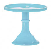 Mosser Glass 15cm Footed Cake Plate Stand - Robins Egg Blue