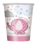 Umbrella Elephant Girl Baby Shower Paper Cups (8ct) by Umbrella Elephant