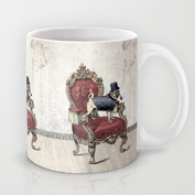 The Imperial Pug Ceramic Teacup Coffee Mug, 330ml Unique Christmas Present for Men & Women, Him or Her