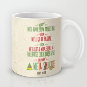 Buddy the Elf And thenwell snuggle Ceramic Teacup Coffee Mug, 330ml Unique Christmas Present for Men & Women, Him or Her
