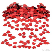 Red Heart Valentines Day Table/Card Confetti - Ideal for Birthdays, Boy's and Girl's, Parties, Special Occassion - Scatter on party tables or put inside cards/wrapping paper
