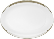 Porcel Ballerina - Oval Dish, 20 cm, White and Silver