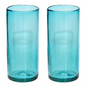 Handmade Hi-Ball Glass - Turquoise - set of 2
