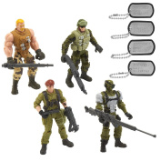 True Heroes Sentinel One Action Figure 4 Pack - Wolf, Ghost, Smash and Jumpstart