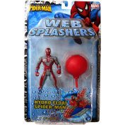 ToyBiz Year 2006 The Amazing Spider-Man Web Splashers Series 13cm Tall Action Figure - HYDRO FLOAT SPIDER-MAN with Float Boat and Air Pump