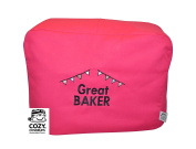 CozyCoverUp® Food Mixer Dust Cover for Kenwood Chef Classic Hot Pink Embroidered GREAT BAKER!