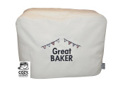 CozyCoverUp® Food Mixer Dust Cover for Kenwood Chef Classic Cream Embroidered GREAT BAKER!