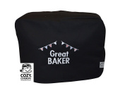 CozyCoverUp® Food Mixer Dust Cover for Kenwood Chef Classic Black Embroidered GREAT BAKER!