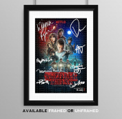 Stranger Things Cast Signed Autograph Signature Autographed A4 Poster Photo Print Photograph Artwork Wall Art Picture TV Show Series Season DVD Boxset Memorabilia Gift