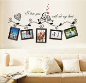 Rainbow Fox 8 Frames Birds of Love Romantic Photo Frame Wall Stickers, Bedroom Living Room Removable Wall Stickers / Wall Stickers / Decoration Mural