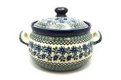 Polish Pottery Covered Tureen (without ladle slot) - Blue Chicory