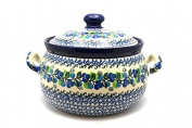 Polish Pottery Covered Tureen (without ladle slot) - Blue Berries