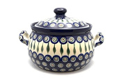 Polish Pottery Covered Tureen (without ladle slot) - Peacock