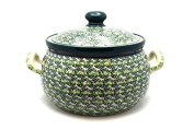 Polish Pottery Covered Tureen (without ladle slot) - Irish Meadow