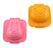 Fashionclubs Plastic Egg Sushi Rice Cutter Mould,Cute Bear And Rabbit For Kids
