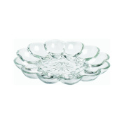 25cm , Clear Glass, Egg Garnishing Plate