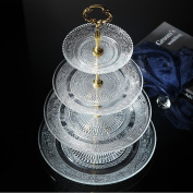 4-tier Glass Square Wedding Cake Stand Cupcake Tree for Wedding Cupcakes Dessert Tower Cupcake Stand for Party Cupcakes and Other Desserts/ Elegant Tea Party Serving Platter