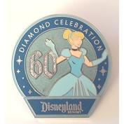 Disney Disneyland 60th Anniversary Diamond Mystery Pin - CINDERELLA by Khamchaii