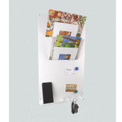3 in 1 Wall Mounted Memo Board letter rack and key holder WHITE