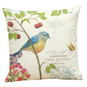 OverDose Home Decoration Birds Printing Pillow Case Cushion Cover