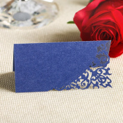 YUFENG Place Cards Laser Cut Table Name Cards For Wedding Birthday Party
