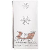 Montgomery Street Christmas Sleigh Cotton Flour Sack Dish Towel