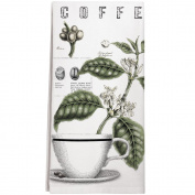 Montgomery Street Coffee Bean Cotton Flour Sack Dish Towel
