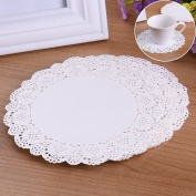 100 PCS 17cm Disposable Circular Paper Doilies Hollow Cake Pad for Lace Dessert Bread Paper Pad