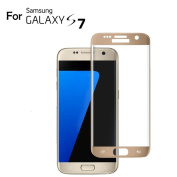 Galaxy S7 Glass Screen Protector, SUMOON 3D Curved Full Coverage Tempered Glass Screen Film, Ultra Thin 0.3mm, Super HD Clear, Anti-Scratch, Easy Installation for Samsung Galaxy S7