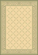 Safavieh Courtyard Collection CY1502-1E01 Natural and Olive Indoor/ Outdoor Round Area Rug