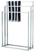 Vivo . 3 Bar Chrome Towel Rail Stand Airer Dryer New Clothes Free Standing Tier