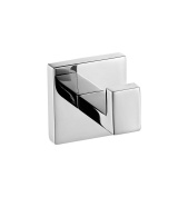 Weare Home SUS 304 Stainless Steel Wall-Mount Bathroom Square Polish Finished Single Robe Hook Hanging Clothing Coat Hat Towel
