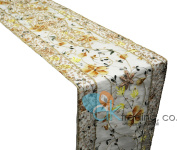 AK-Trading 36cm x 180cm Hand Painted Florals and Embroidered Floral Design Long Table Runner