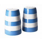 Cornishware Blue and White Stripe Stoneware Salt and Pepper Shaker Set