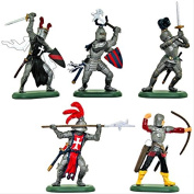 Britains Deetail Mediaeval Knights Toy Soldiers Set of 5