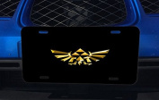 Legend of Zelda Triforce Symbol Print Aluminium Licence Plate for Car Truck Vehicles
