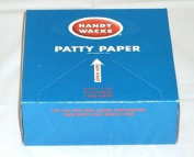 Handy Wacks P-50-X, 13cm x 12cm Hamburger Patty Papers, Disposable Meat Butcher Paper Sheets, 1000-Piece Pack