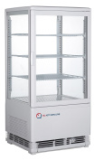 EQ White Commercial Refrigerated Display Case Glass Beverage, 4 Glass, RT-68L
